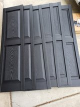 3 Sets - 14 1/4-Inch W x 53-Inch H Mid-America Vinyl, Williamsburg Double Panel Shutters, w/Inst... in Wheaton, Illinois
