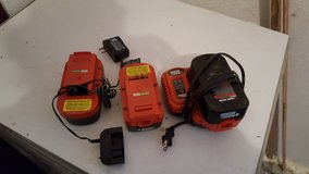 3  18 volt batteries with 2 chargers in Fort Leonard Wood, Missouri