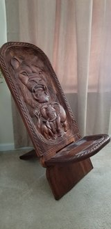 Hand Carved chair in Camp Lejeune, North Carolina