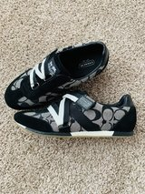 Coach track shoes (worn 1x), size 7, black in Naperville, Illinois