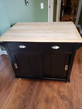 Crate & Barrel Belmont Black Kitchen Island in Aurora, Illinois
