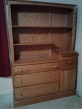 Solid Oak Dresser with Bookshelves in Aurora, Illinois