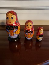 Russian hand painted set of 3 nesting dolls in Oswego, Illinois