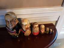 Russian set of 7 Political nesting dolls in Naperville, Illinois