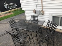 Wrought Iron patio set in Aurora, Illinois