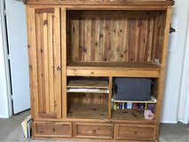 Rustic Solid Pine Entertainment or BookCenter in Lackland AFB, Texas