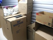 Boxes, empty, large and small in Naperville, Illinois