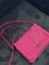 J Crew hot pink leather cross body bag in Conroe, Texas