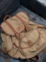 Mossimo army green canvas back pack in Conroe, Texas