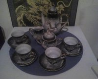 Lucky China raised Dragware Japanese tea set in Conroe, Texas