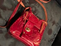 Western style red leather little girls cross body bag in Conroe, Texas