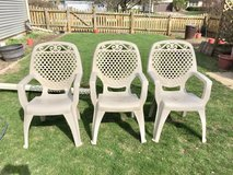 Cream Colored Fancy Lawn Chairs in Aurora, Illinois