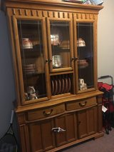 Honey Oak China Cabinet and Hutch in Camp Lejeune, North Carolina