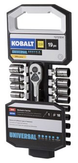 "Kobalt Universal 19-pc SAE & Metric Matte Mechanic's 1/4"" Drive Set - BRAND NEW in Fort Polk, Louisiana"