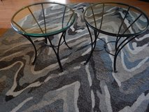Metal and glass end tables in Camp Lejeune, North Carolina