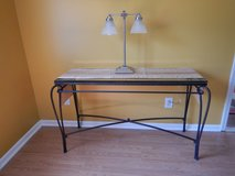 Metal and glass sofa table in Camp Lejeune, North Carolina