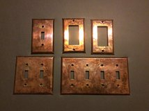Copper Wrapped Switch Plates in St. Charles, Illinois
