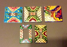 Spanish Pottery Switch Plates in Naperville, Illinois