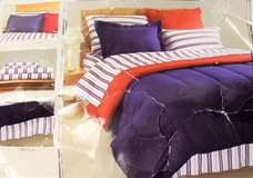 Fairfield Square Navy Yard PILLOW SHAM Bedding Stripe Blue Red Reversible in Kingwood, Texas