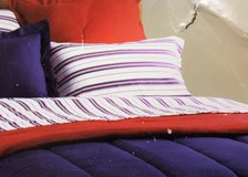Fairfield Square Full Navy Yard PILLOW CASE Bedding Stripe Blue Red in Houston, Texas