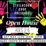 Steilacoom Cooperative Preschool Open House Saturday May 11th in Fort Lewis, Washington