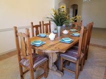 Rustic Table and 6 Chairs in Alamogordo, New Mexico