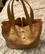 New camel colored purse plus pouch in Morris, Illinois