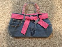 Handmade Jean Purse with Pink Lining in Quad Cities, Iowa