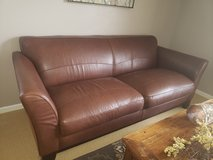 Leather couch and chair in Aurora, Illinois