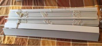White Faux Wood Blinds in Aurora, Illinois