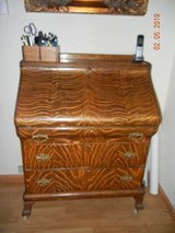 Amazingly Gorgeous Tiger Oak Desk Secretary - Coordinated Waterfall of Tiger Oak Stripes! in Alamogordo, New Mexico