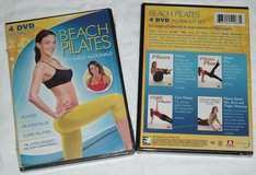 NEW Beach Pilates 4 Disc Set DVD Workout Abs Buns Thighs Exercise Fitness Video in Joliet, Illinois