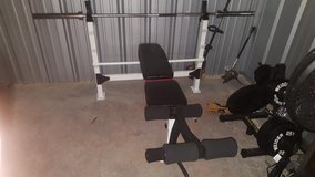 Olympic Bench, Rack, and Weights in Fort Campbell, Kentucky