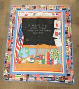 Teacher Blanket Quilt  Throw Bedding Bed Classroom reading Math Chalkboard in Kingwood, Texas