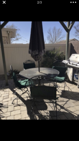 Wrought iron patio in Nellis AFB, Nevada
