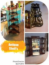 antique shelves @ Thriftology in Cherry Point, North Carolina
