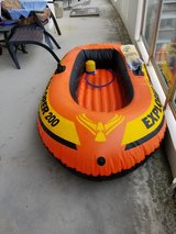Inflatable INTEX Boat with paddle and Pump, Never used. in Okinawa, Japan