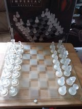Chess set/Imperial Crytal in DeKalb, Illinois