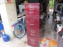 4 DRAWER BURGUNDY FILING CABINET in Cherry Point, North Carolina