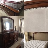 Queen bed and dresser in Yorkville, Illinois