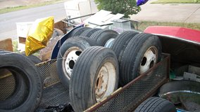 TIRES & RIMS  fair shape size 875 R x 16 5 RIB MICHELEM in Alamogordo, New Mexico