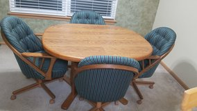 KITCHEN TABLE, 4 CHAIRS AND EXPANDABLE INSERT in Naperville, Illinois