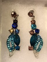 HAMER Jewelry Blue Multicolor Painting Crystal Statement Charm Earrings in Miramar, California