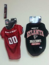 2 Falcons shirts Size large with leash in Byron, Georgia