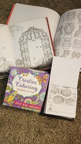 three adult coloring books in Joliet, Illinois