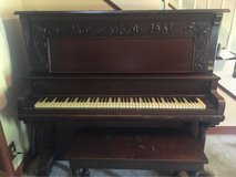 Older upright Crescent piano in Clarksville, Tennessee