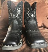 Justin Women's Black Deercow with Silver Rivets Square Toe Gypsy Boots in Yucca Valley, California