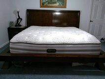 Frame and King Mattress-Bought it at Ashley Furniture in 29 Palms, California
