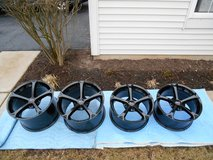 Corvette C6 Grand Sport Wheels Rims W/ Caps OEM Factory GM Black in Shorewood, Illinois