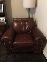 Large leather chair in The Woodlands, Texas